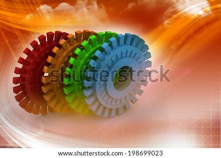 gears - stock photo