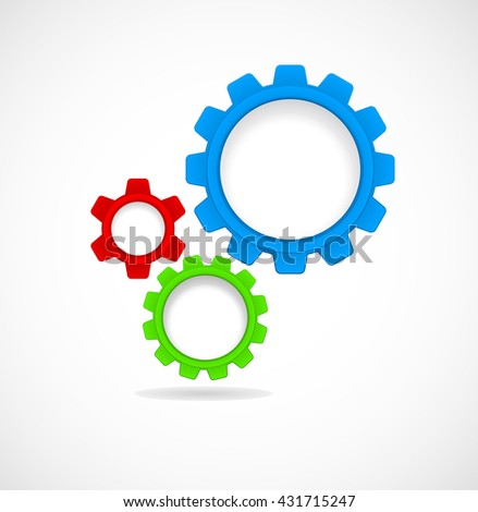 gears and cogs teamwork - abstract template - stock photo