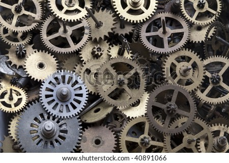 Gears Clock - stock photo
