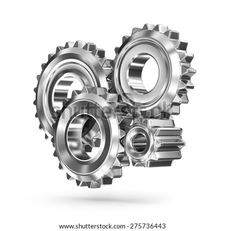 Gears concept - business connections - stock photo