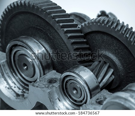 Gears construction - stock photo