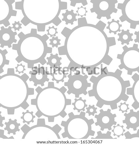 Gears, seamless pattern - stock photo