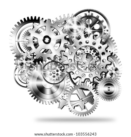gears wheels design , industrial background - stock photo
