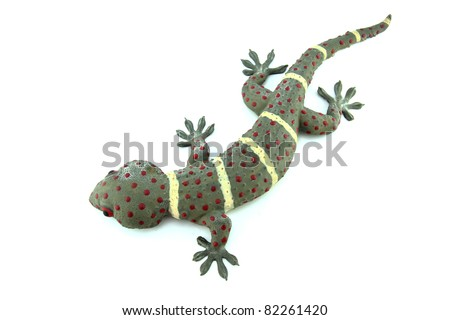 Gecko on white isolated background - stock photo