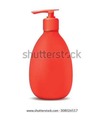 Gel, Foam Or Liquid Soap Dispenser Pump Plastic Bottle. - stock photo