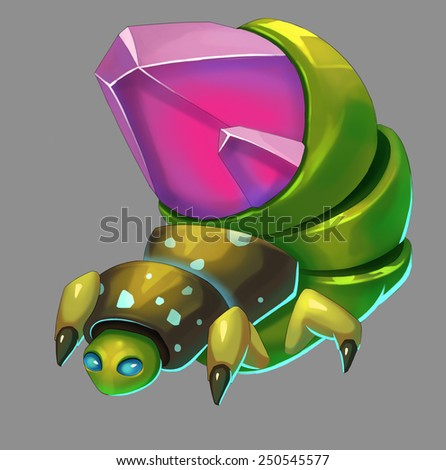 Gem Bug - Creature Design - stock photo
