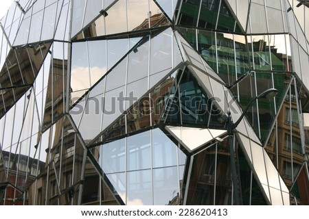 gemetric glass facade     Save to a Lightbox ?            Find Similar Images     Share ?    geometric glass facade  - stock photo