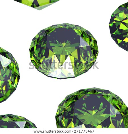 Gemstone. Collections of jewelry gems on black. Emerald - stock photo