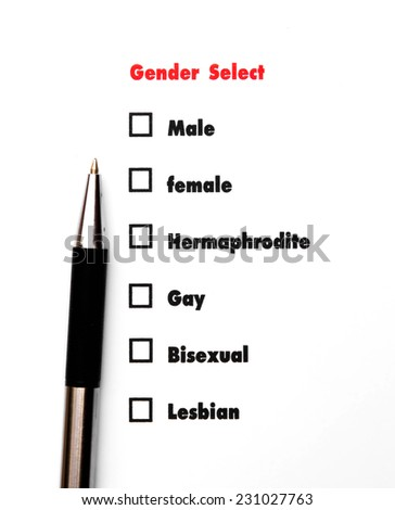 gender select choice, sex concept - stock photo