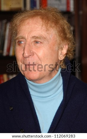"Gene Wilder at an in store appearance to promote his book ""My French Whore"". Barnes and Noble The Grove, Los Angeles, CA. 03-07-07 - stock photo"