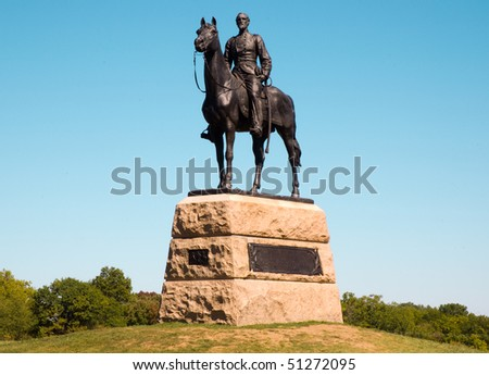 General George G. Meade monument statue - stock photo