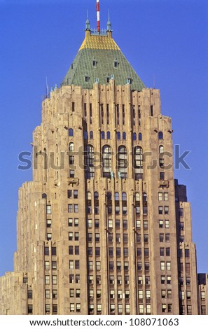 General Motors Headquarters in downtown Detroit, Michigan - stock photo
