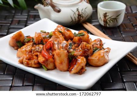 General Tso's Chicken - stock photo
