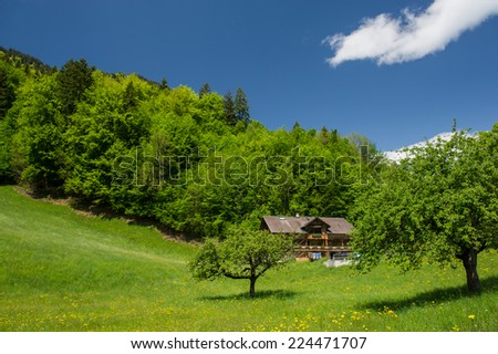 general view landscape- countryside, Switzerland  - stock photo
