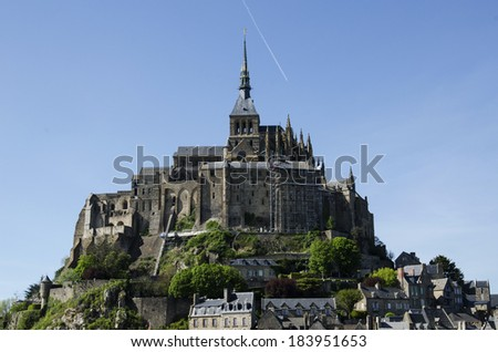General view of the Mont-Saint-Michel - stock photo