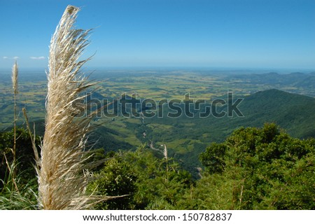 General view Serra Geral National Park, mountain range in southern Brazil - stock photo