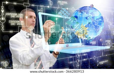 Generation computer technology - stock photo