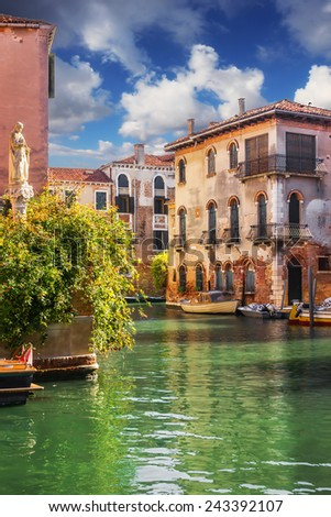 Generic architecture, Venice, Italy - stock photo