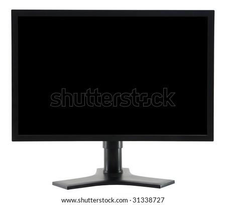 generic black LCD monitor - stock photo