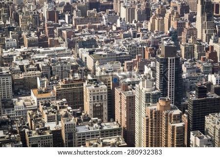Generic view of New York City - landscape exterior - stock photo