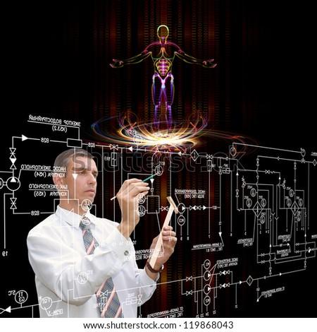 Genetic engineering.Scientific innovative  research - stock photo