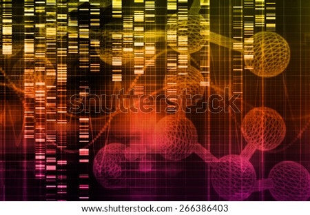 Genetic Science Research as a Medical Abstract Art background - stock photo