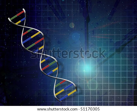 Genetics time - stock photo