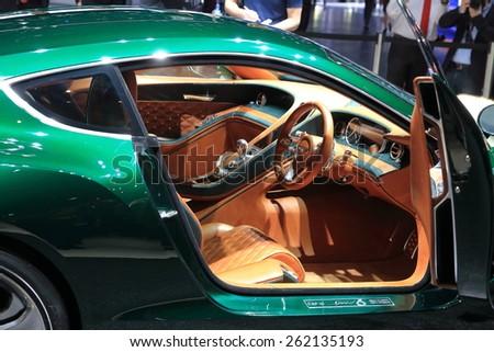 GENEVA, MARCH 3:A Bentley EXP 10 Speed 6 Concept car on display at 85th international Geneva motor Show at Palexpo-Geneva on March 3, 2015 at Geneva, Switzerland.  - stock photo