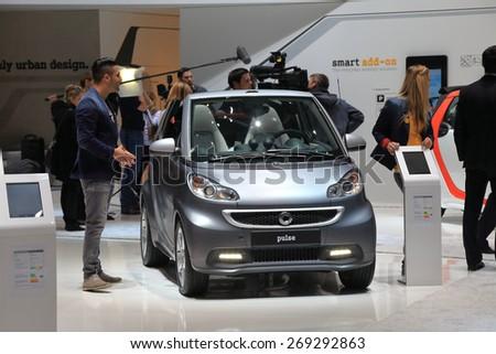 GENEVA, MARCH 3: smart pulse car on display at 85th international Geneva motor Show at Palexpo-Geneva on March 3, 2015 at Geneva, Switzerland. - stock photo
