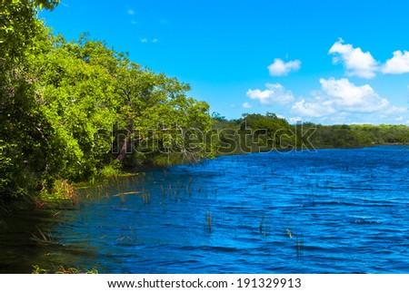Genipabu lagoon in Natal, Brazil - stock photo