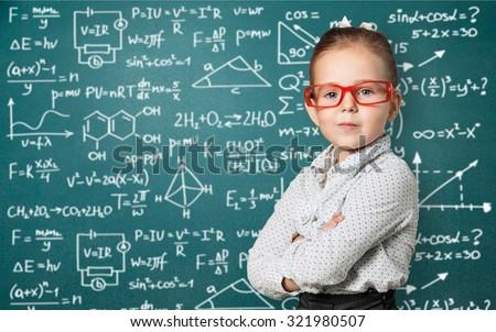 Genius kid. - stock photo