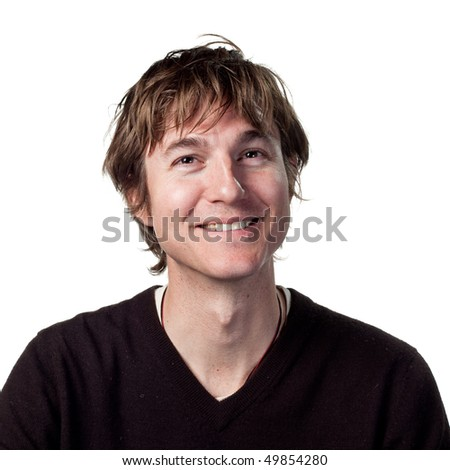 Genuine smile from happy man - stock photo