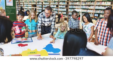 Geography Knowledge Learning Teaching Concept - stock photo