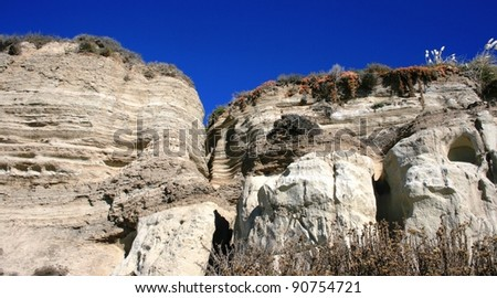 Geologic formations at San Clemente, Orange County, California - stock photo
