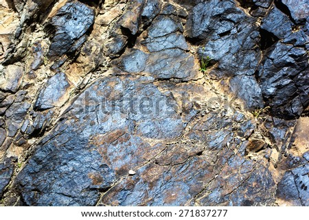Geological deposits of ore. Industrial mining. - stock photo