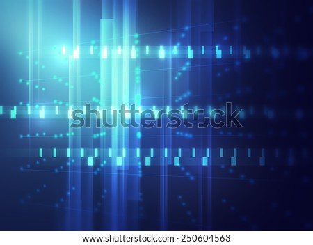 geometric abstract technology and science background  - stock photo