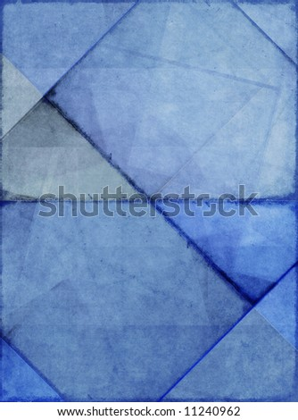 geometric blue background image with interesting earthy texture - stock photo