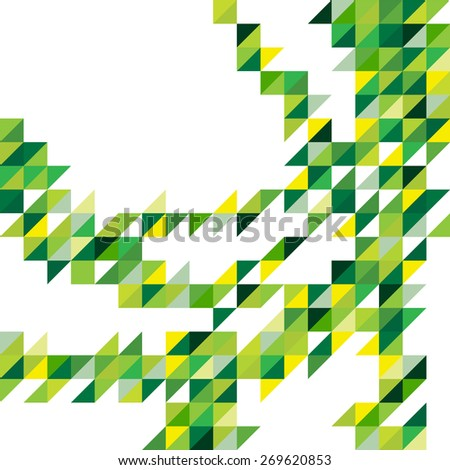 Geometric color shapes, abstract background, flyer or brochure template. - stock photo