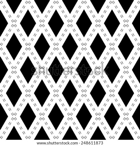 Geometric fine abstract  pattern. Seamless modern texture for wallpapers and backgrounds. Black and white colors - stock photo