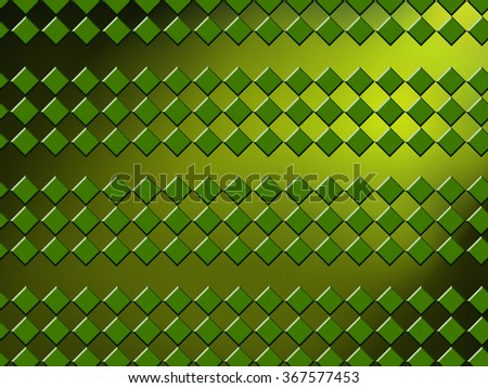 geometric green background with rhombuses - stock photo