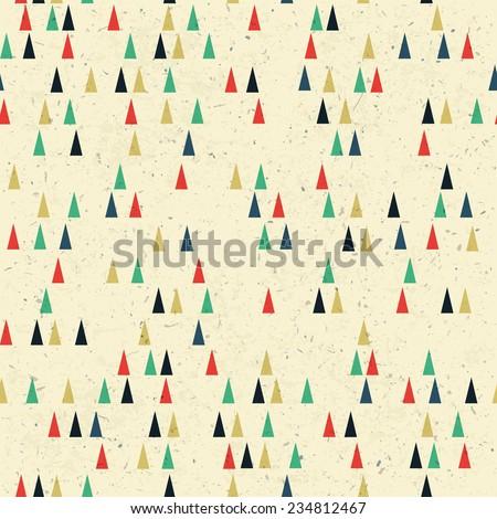 Geometric retro seamless pattern. Raster version - stock photo