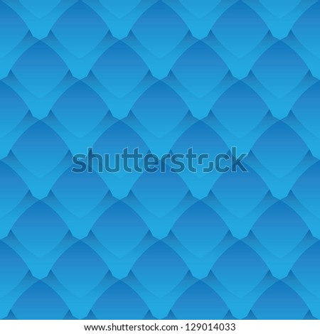 Geometric seamless pattern - a fantastic blue scales - stock photo