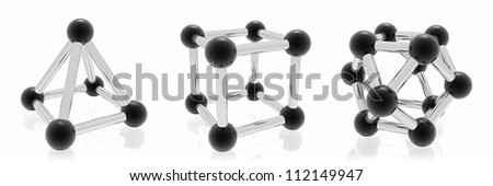 geometric shapes for the site and Advertising - stock photo