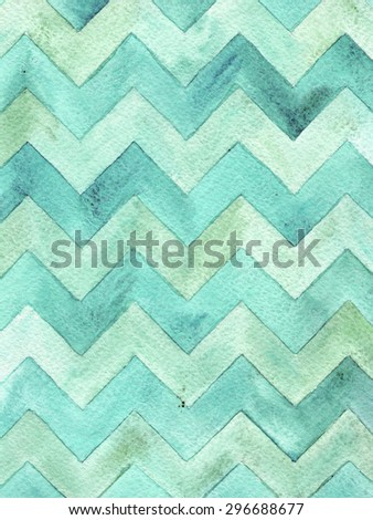 Geometric watercolor chevron pattern. Grunge background. Vintage card. - stock photo