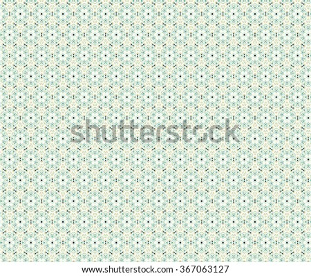 Geometrical mandala, pale green floral and hexagon weaving ornament pattern. Illustration background. - stock photo