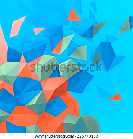 geometrical multicolored background - stock photo