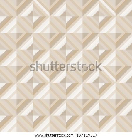 Geometrical pattern in dark gray&golden colors, seamless vector background. Raster version. - stock photo