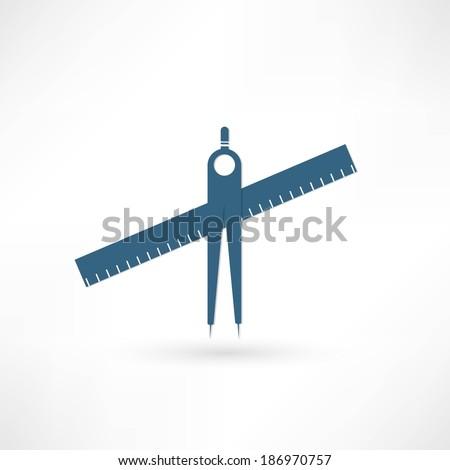 geometry compasses - stock photo