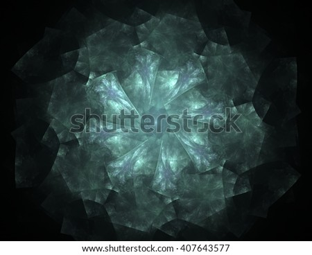Geometry of Space series. Visually attractive backdrop made of conceptual grids curves and fractal elements suitable as element for layouts on physics mathematics technology science and education - stock photo