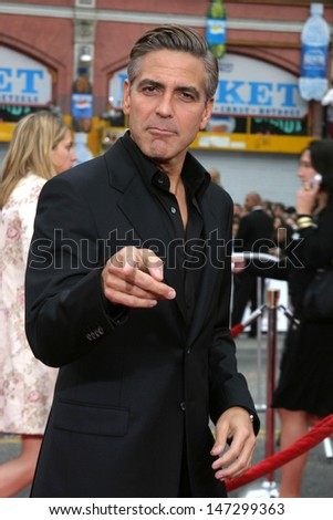 "George Clooney at the ""Ocean's Thirteen"" Los Angeles Premiere Gruman's Chinese Theater Los Angeles, CA June 5, 2007 - stock photo"